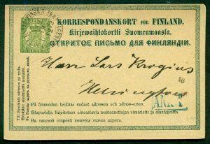 FINLAND Norma PK3, 8pen postal card, used, VF, Norma $29.00