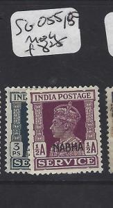 INDIA NABHA   (PP0807B)  KGVI     SERVICE SG O55, 58       MOG