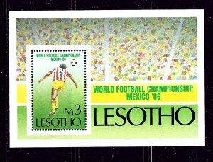 Lesotho 525 MNH 1986 World Cup Soccer S/S