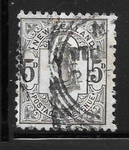New Zealand 69: 5d Queen Victoria, used, F