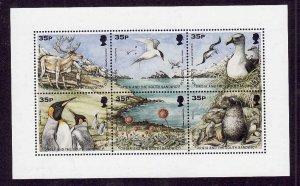 South Georgia-Sc#219-unused NH sheet-Birds-1998-