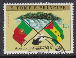 St. Thomas and Prince Islands #412 F-VF Used Flags