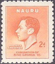 Nauru # 36 mnh ~ 2p George VI