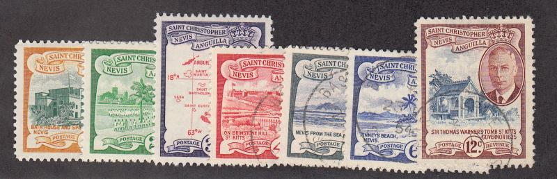 St Kitts-Nevis - 1952 - SC 107-12 - Used/LH - 107-09 LH