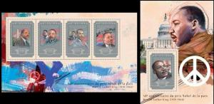 Guinea 2014 Martin Luter King famous persons klb+s/s MNH
