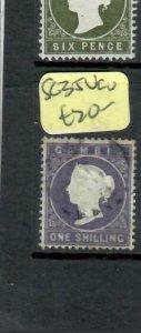 GAMBIA  (P2308BB) QV 1/-      SG 35   VFU