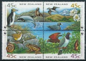 New Zealand MNH Block Fauna WWF