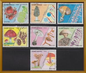 Guinea-Bissau 765-771 Hinged CTO 1988 Mushrooms Set