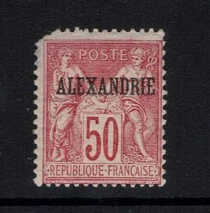 French Offices Alexandria SC# 12 - Mint HInged (See Notes) - Lot 040917