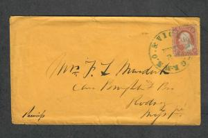 US Sc#26 N.O.+Vicksburg Feb 21 River Mail Scarce Cover To Rodney Miss
