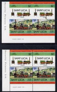 St Lucia 1984 Locomotives #2 (Leaders of the World) $2 'D...