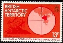 Volcano, Continental Drift & Climatic Change, British Antarctic Ter. SC#89 MNH
