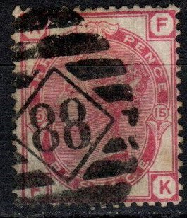 Great Britain #61 Plate 15  F-VF Used CV $50.00  (X5388)