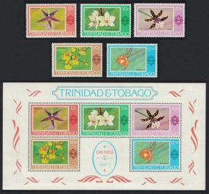 Trinidad and Tobago Orchids 5v+Sheetlet SG#483=MS499