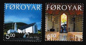 Faroe Is. Gota Church 2v SG#439-440 SC#424-425