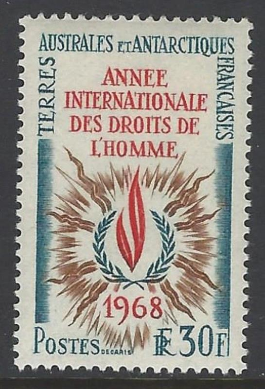 FSAT TAAF 1968 Human Rights Year VF MNH (32)