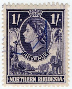 (I.B) Northern Rhodesia Revenue : Duty Stamp 1/-