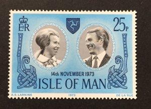 Isle of Man 1973 #35, Princess Anne Wedding, MNH.
