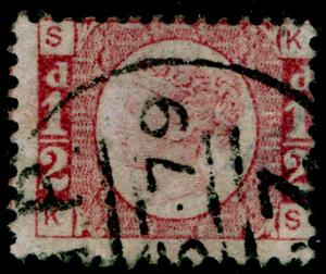 SG48, ½d rose-red plate 11, FINE USED. Cat £25. KS