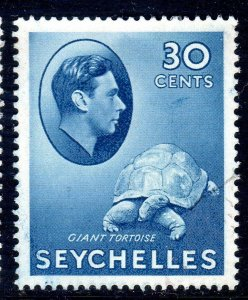 SEYCHELLES-- 1941- sg142a  -  30 cents  -blue - used -