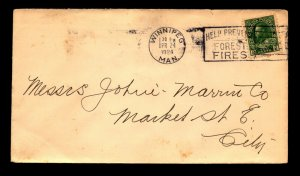 Canada 1924 KOC Cover / Forest Fire Prevention Cancel - L12202