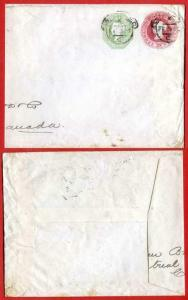 ESC63 QV 3d and 1/- Compound Stamped to Order Envelope Dated 26.2.92 USED