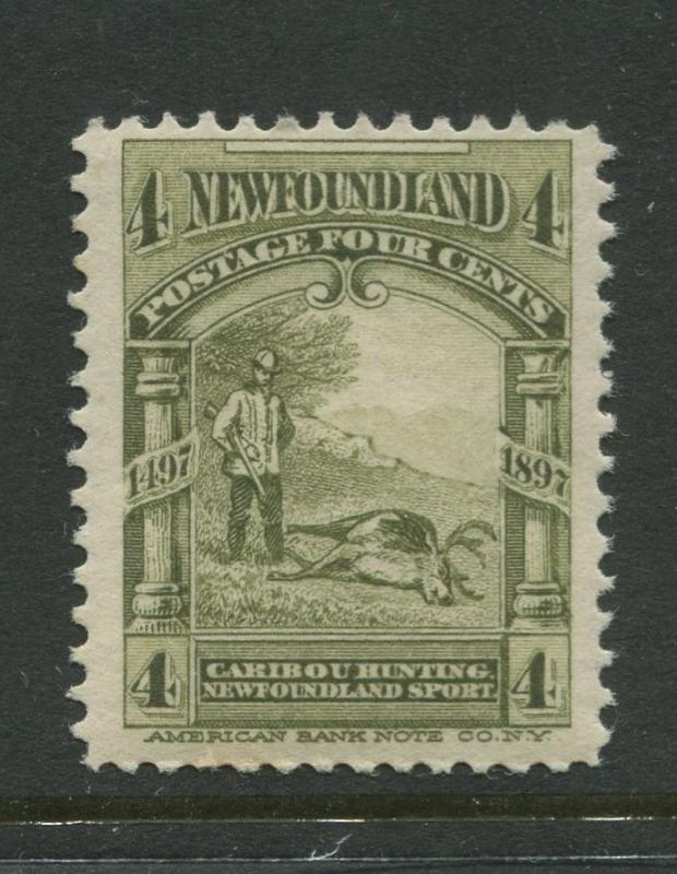 Newfoundland - Scott 64 - QV Definitive - 1897 - MNH - Single 4c Stamp