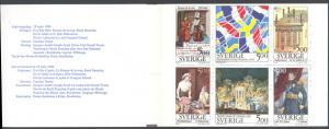 Sweden 2070a MNH Complete Booklet - France/Sweden