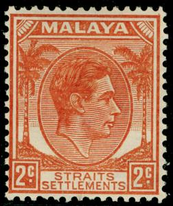 MALAYSIA - Staits Settlements SG294, 2c orange, LH MINT.