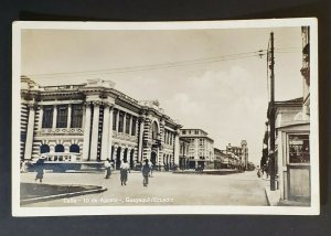 Colombia to Indianapolis IN Street View Guayaquil Ecuador RPPC Postcard Cover