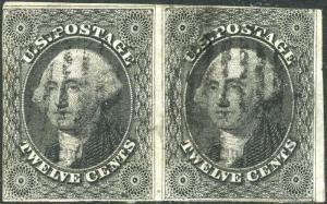 #17 F-VF USED PAIR WITH BLACK GRID CANCEL CV $600.00 BP3322