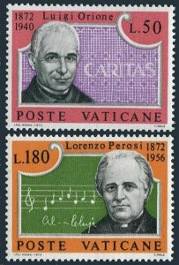 Vatican 526-527 bl./4,MNH.Mi 613-614. Luigi Orione; Lorenso Perosi,composer,1972