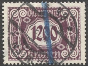 AUSTRIA 1923  Sc J125  1,200k Postage Due Used  VF