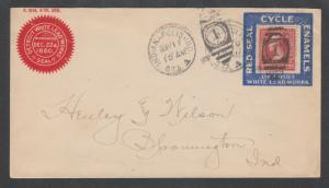 US Sc 252 on 1902 Advertising Cover with Stamp Collar, Detroit White Lead Works