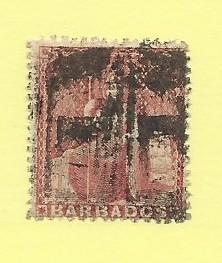 Barbados  #17A  (U)  CV $62.40
