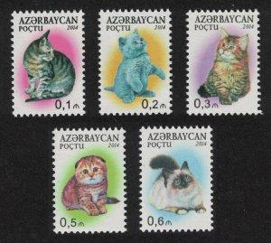 Azerbaijan Cats 5v SG#934-938