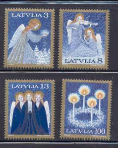 Latvia Sc 385-8 1994 Christmas stamp set NH