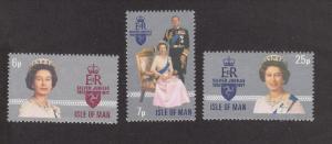 Isle Of Man MNH 96-8 QE II Silver Jubilee