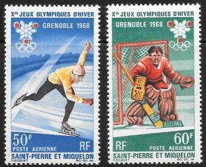 St. Pierre et Miquelon (SPM) Scott Number C37-C38 VF NH Cat US$18