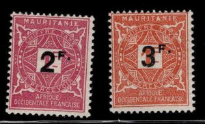 The Islamic Republic of Mauritanie Scott J28-J29 MH* Postage Dues