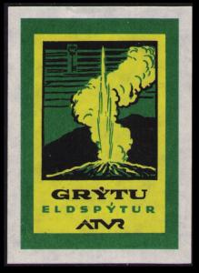 GRYTU ELDSPYTUR  ATVR (ICELAND) LABEL MINT NO GUM NH CINDERELLA SEE SCAN (PL02)