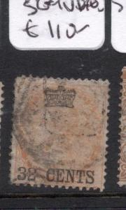 Malaya Straits On India SG 9 VFU (2dmb)