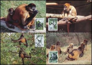 Honduras stamp WWF Monkies set 4 CM Cover 1990 Mi 1084-1087 WS244327
