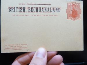 Bechuanaland QV 1d red PSC double card unused (8bej)