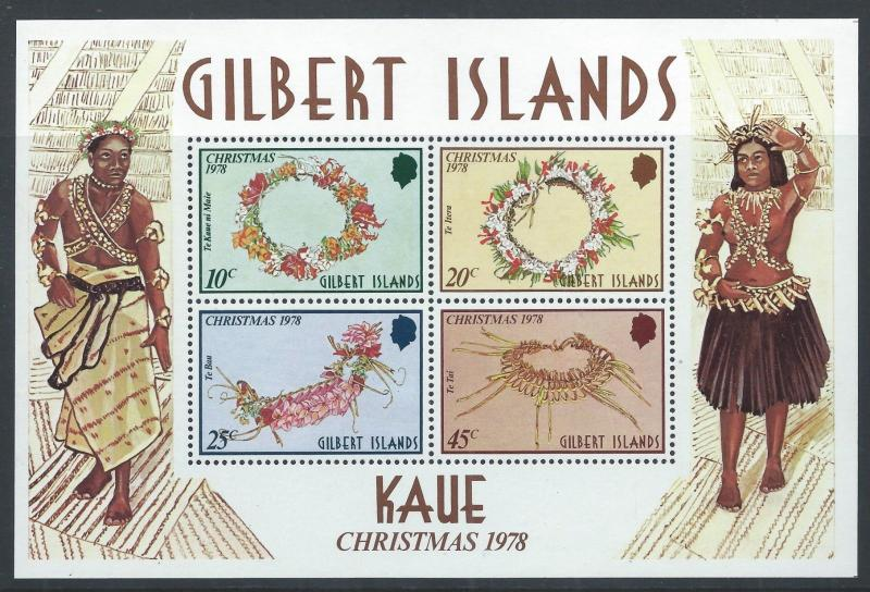 GILBERT ISLANDS 1978 SG MS79 Christmas. Kaue Mini Sheet Mint MNH