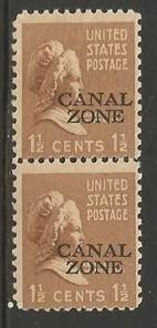 CANAL ZONE 119 MNH PAIR T815-2