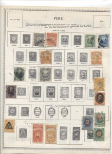 STAMP STATION PERTH Peru #Around 120 Stamps on Paper Mostly Used/Mint Unchecked