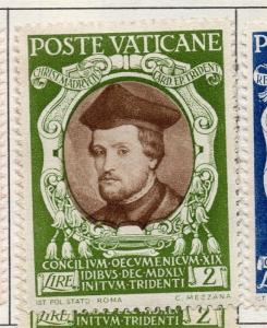 Vatican City 1946 Trent Early Issue Fine Mint Hinged 2L. 146817