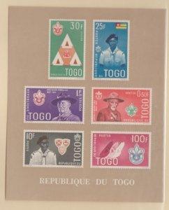 Togo Scott #401-406 Stamps - Mint NH Souvenir Sheet