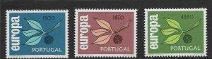 PORTUGAL - EUROPA 1965 - SCOTT 958 TO 960 - MNH